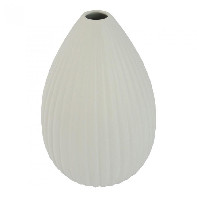 Vázy Keramická váza VK35 biela matná (25 cm)