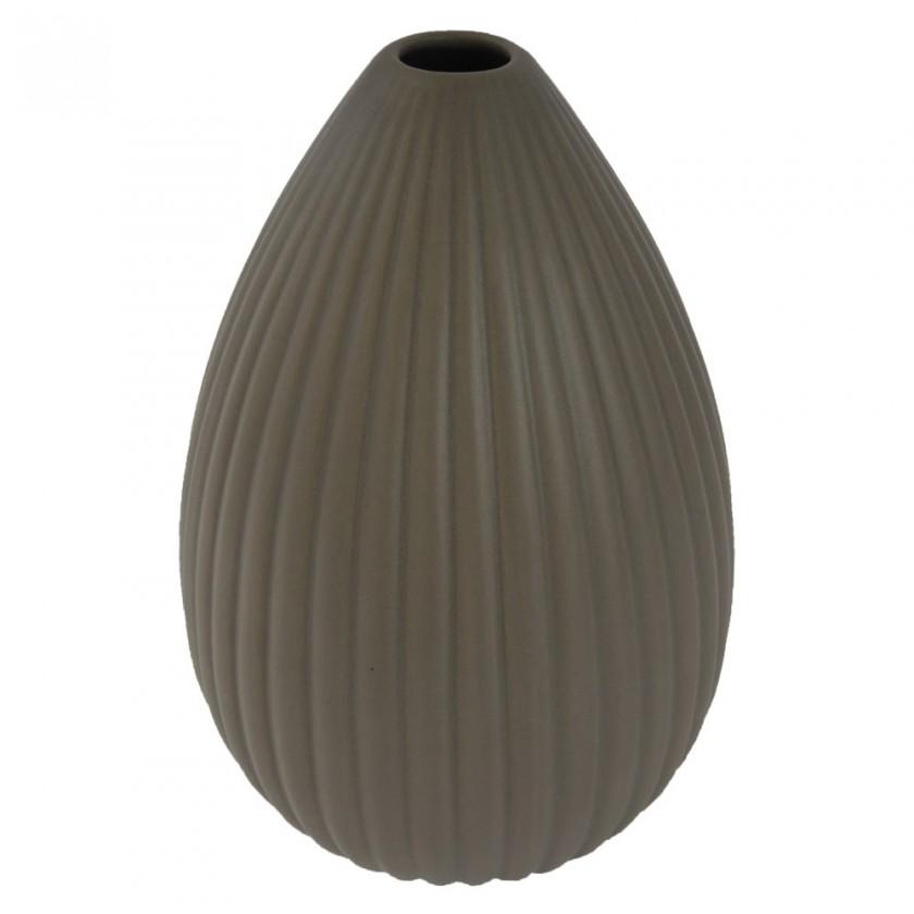 Vázy Keramická váza VK36 hnedá matná (25 cm)