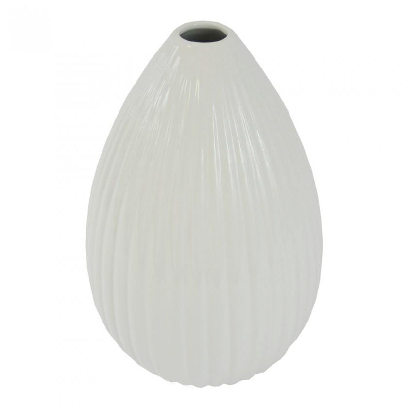 Vázy Keramická váza VK37 biela lesklá (25 cm)