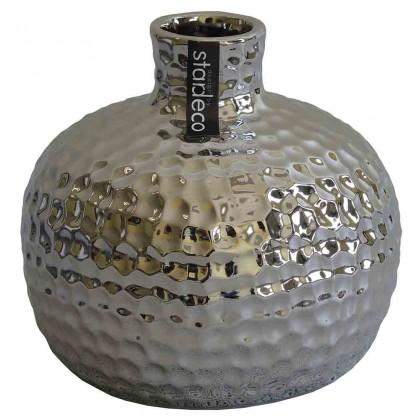Vázy Keramická váza VK55 strieborná (13,5 cm)