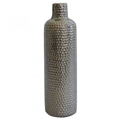 Vázy Keramická váza VK56 strieborná (30 cm)
