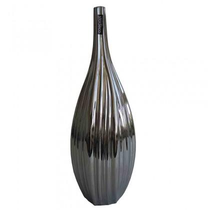 Vázy Keramická váza VK59 strieborná (45 cm)