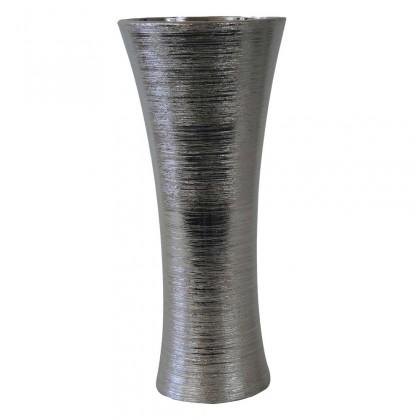 Vázy Keramická váza VK64 strieborná (35 cm)