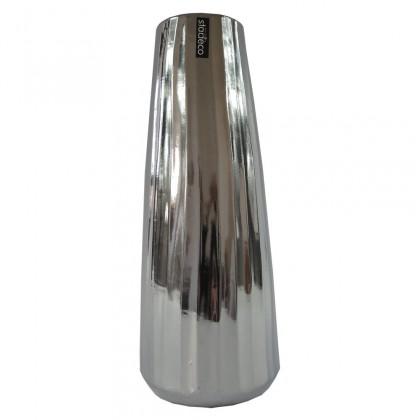 Vázy Keramická váza VK70 strieborná (35 cm)