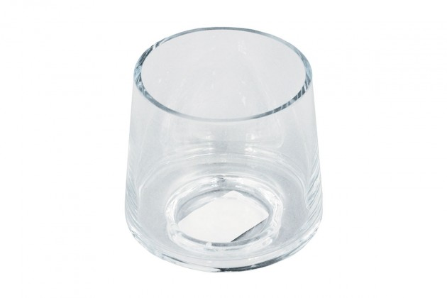Vázy Sklenená váza VS08 (číra, 9 cm)