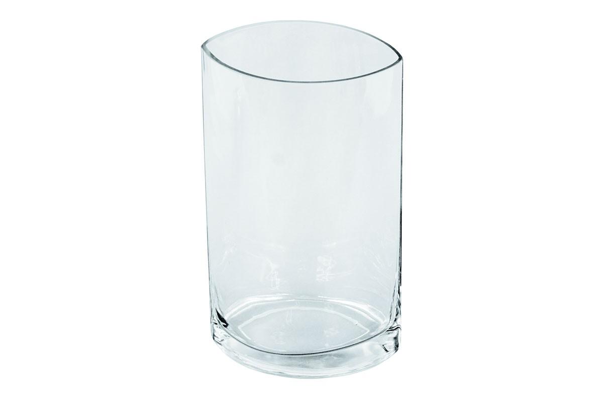 Vázy Sklenená váza VS10 (číra, 25 cm)