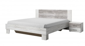 Vera - Posteľ 160x200 cm, 2x nočný stolík, pínie