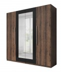 Vera - Skriňa 228x214x58 cm, klasické dvere, zrkadlo, dub