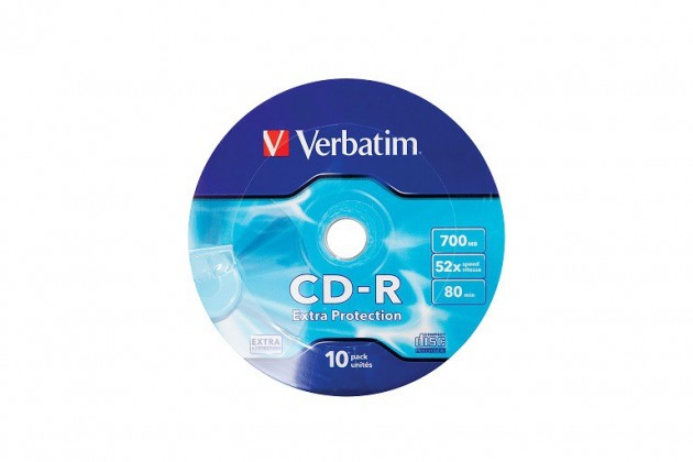 Verbatim CD 700MB WRAP PROTECTION 10ks (43725)