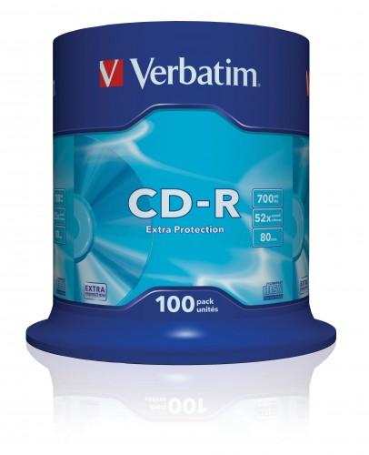 Verbatim CD-R 700MB 52x, 100 ks (43411)