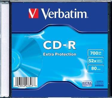 Verbatim CD-R 700MB 52x, 1ks (43347)