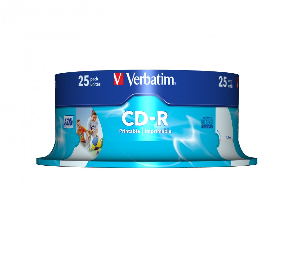 Verbatim CD-R DataLife Protection 52x, 25ks cakebox (43439)