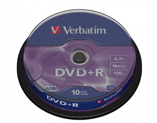 Verbatim DVD+R 16x, 10ks CakeBox (43498)
