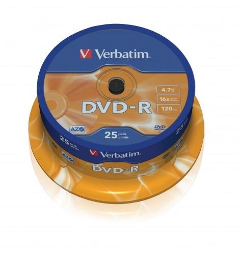Verbatim DVD-R 4,7GB 16x, 25ks (43522)