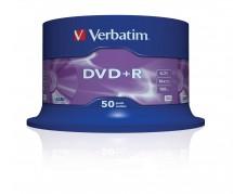 Verbatim DVD+R 4,7GB 16x, 50 ks (43550)