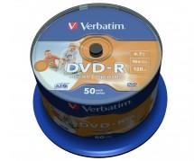 Verbatim DVD-R 4,7GB 16x, 50ks (43533)