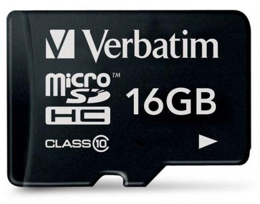Verbatim micro SDHC 16GB class 10 BAZAR