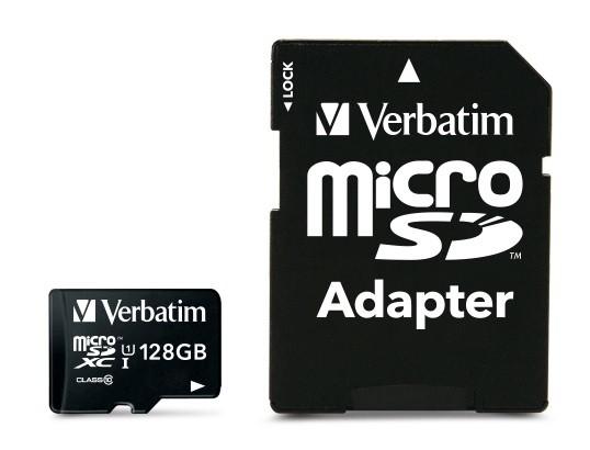 VERBATIM Premium microSDXC 128GB UHS-I V10 U1 + SD adaptér