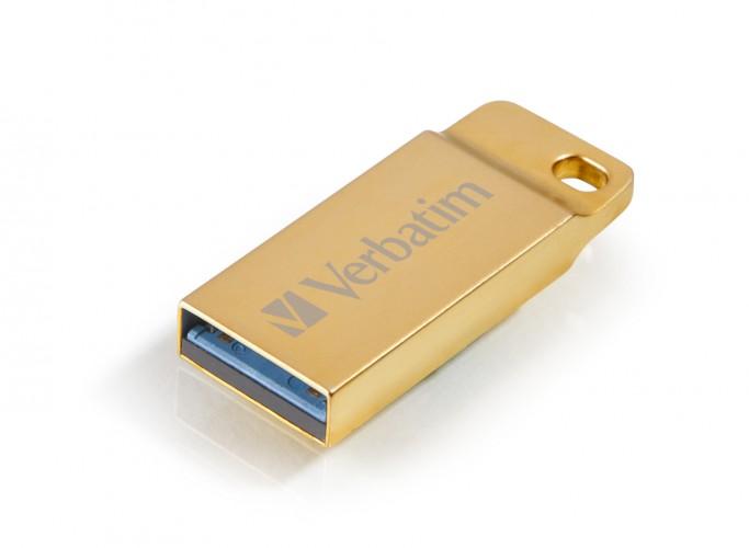 VERBATIM Store 'n' Go Metal Executive 16GB USB 3.0 zlatý