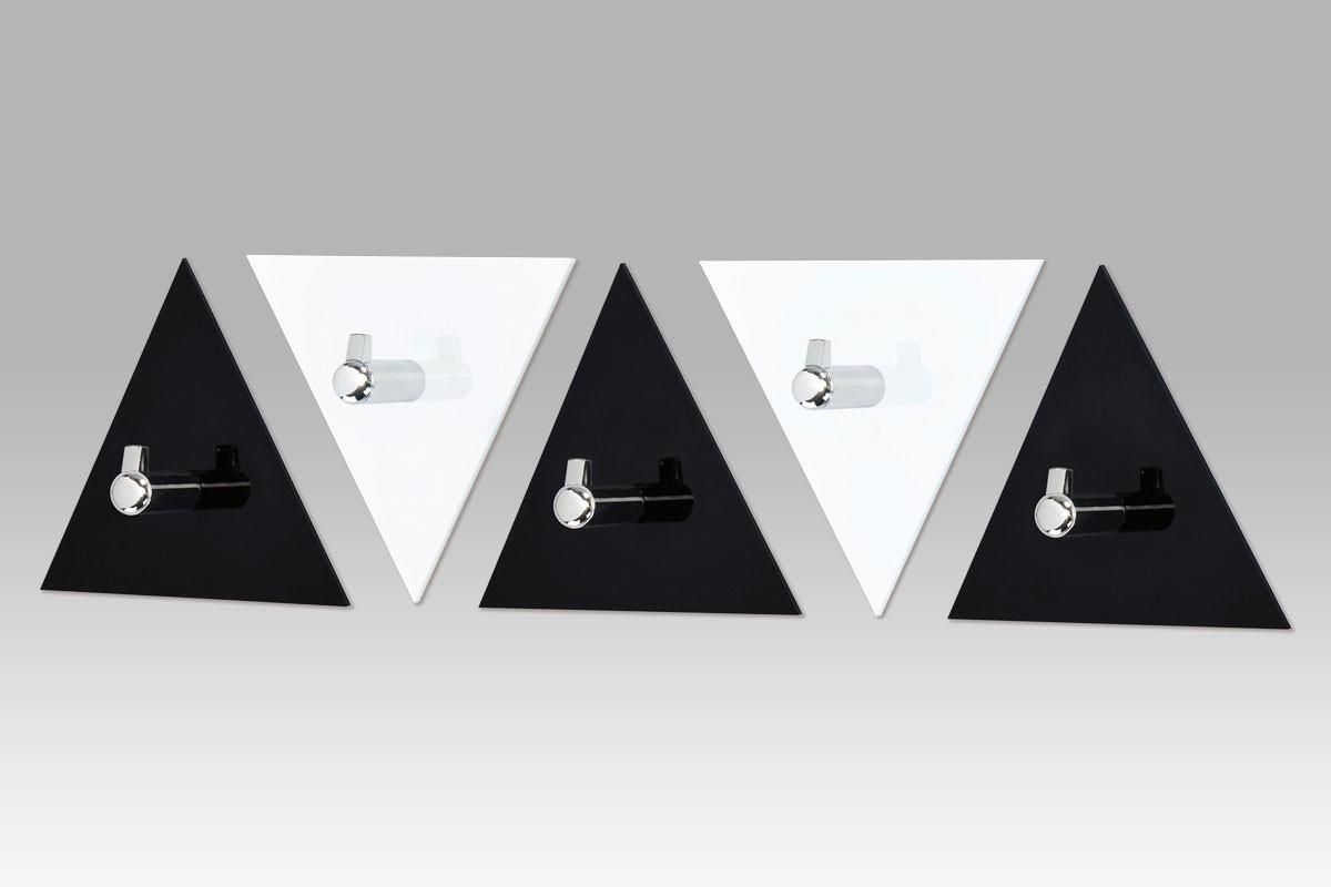Vešiak AC-13 BC - set nástenných vešiakov (čierna/biela)