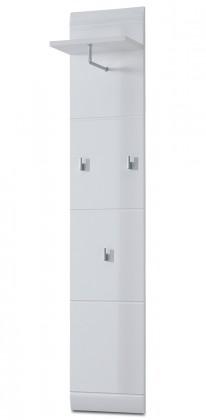 Vešiak GW-Adana - Vešiakový panel, 30 cm (biela)