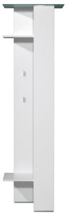 Vešiak GW-Gala - Vešiakový panel, 2x police, 4x háčik, tyč (biela)