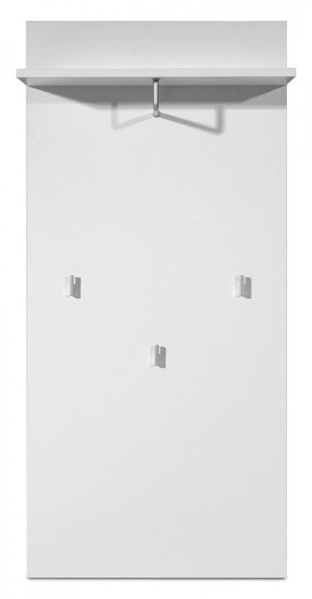 Vešiak GW-Mediano - Vešiakový panel, 3x háčik (biela)