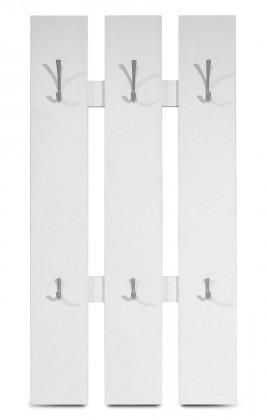 Vešiak GW-Mediano - Vešiakový panel, 6x háčik (biela)