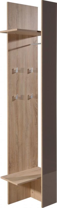 Vešiak GW-Perla - vešiakový panel (dub sonoma-korpus / grafit-front)