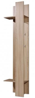 Vešiak GW-Prisma - Vešiakový panel, 2x police, 4x háčik (dub sonoma)