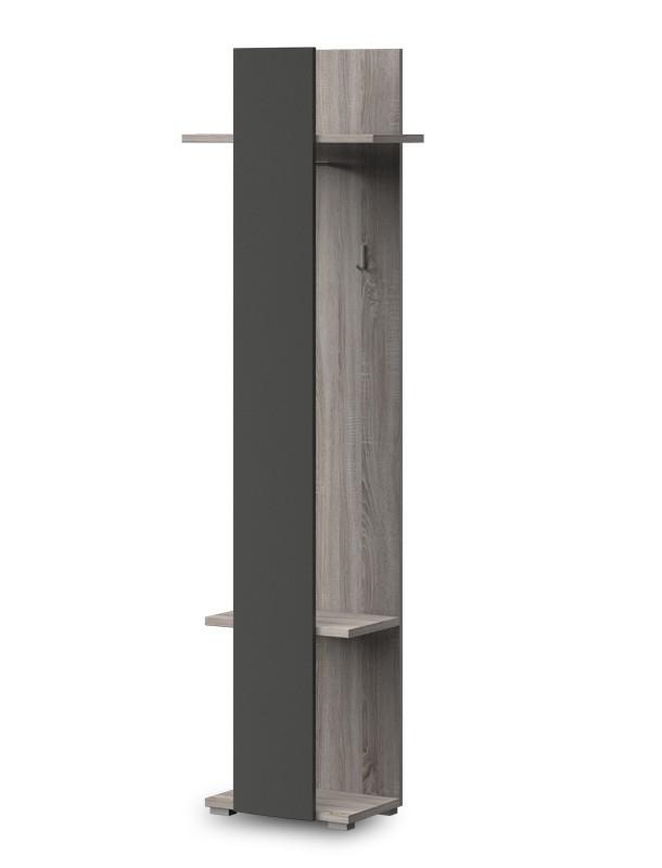 Vešiak PACIFIK Typ 78(dub bardolino/grafit vysoký lesk)
