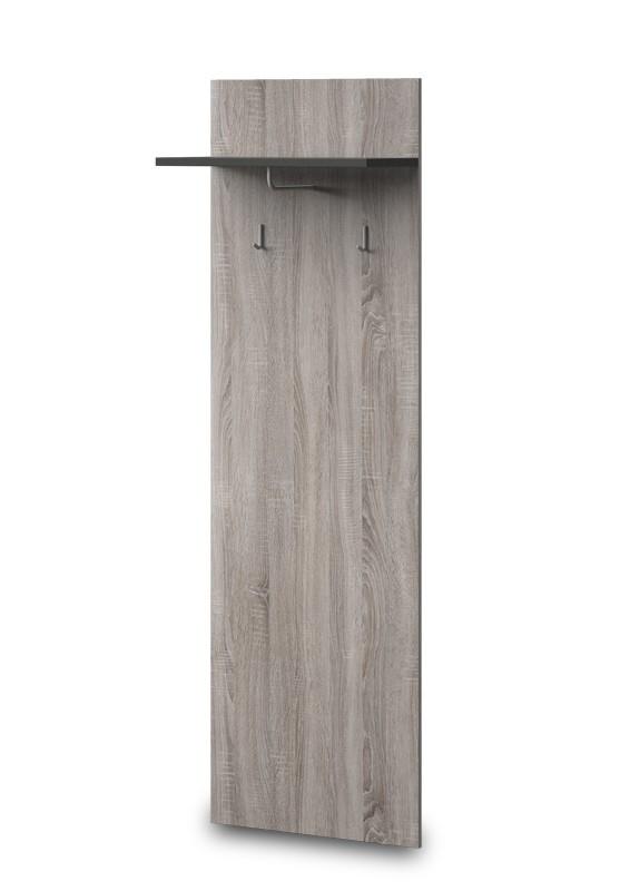 Vešiak PACIFIK Typ 79(dub bardolino/grafit vysoký lesk)