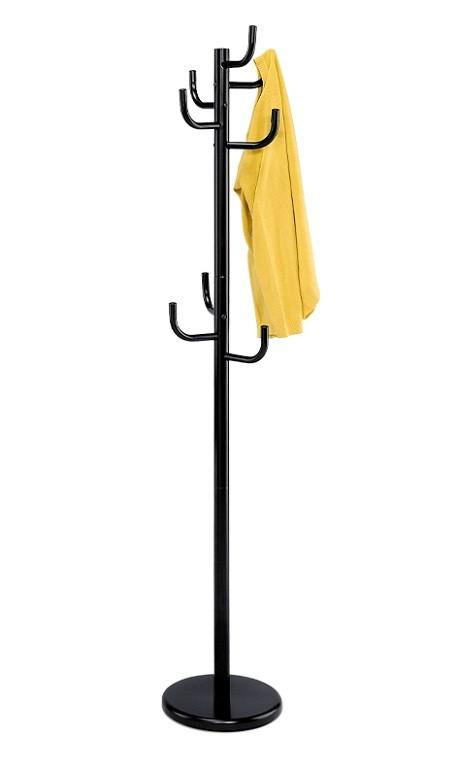 Vešiak Stojanový vešiak - SV 06, 175 cm (čierna, kov)