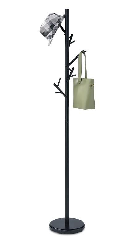 Vešiak Stojanový vešiak - SV 10, 170 cm (čierna, kov)
