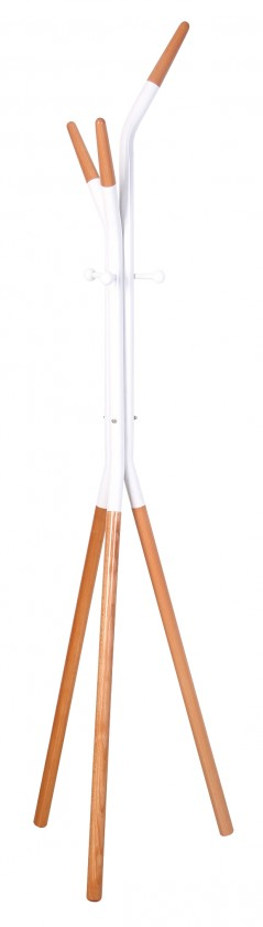 Vešiak Stojanový vešiak W51 (biela/buk)