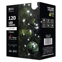 Vianočné osvetlenie Emos ZY0803T, studená biela, 12 m, časovač