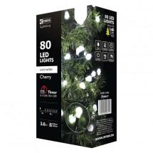 Vianočné osvetlenie Emos ZY0901T, guľôčky, studená biela, 8 m
