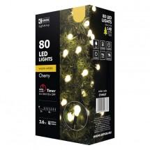Vianočné osvetlenie Emos ZY0902T, guľôčky, teplá biela, 8 m