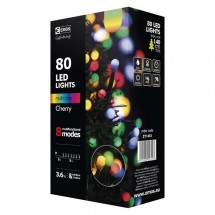 Vianočné osvetlenie Emos ZY1453, guľôčky, farebné, 8 m