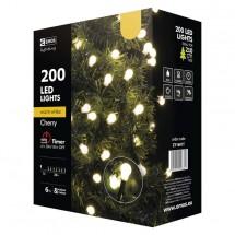 Vianočné osvetlenie Emos ZY1601T guľôčky, teplá biela, 20 m