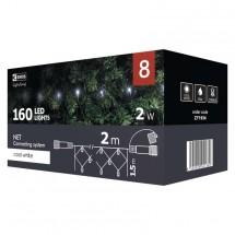 Vianočné osvetlenie Emos ZY1934, sieť, studená biela, 2 m