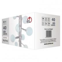 Vianočné osvetlenie Emos ZY2022T, guľôčky, studená biela, 4 m