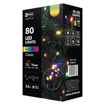 Vianočné osvetlenie Vianočné osvetlenie Emos ZY0812T, farebná, 8 m