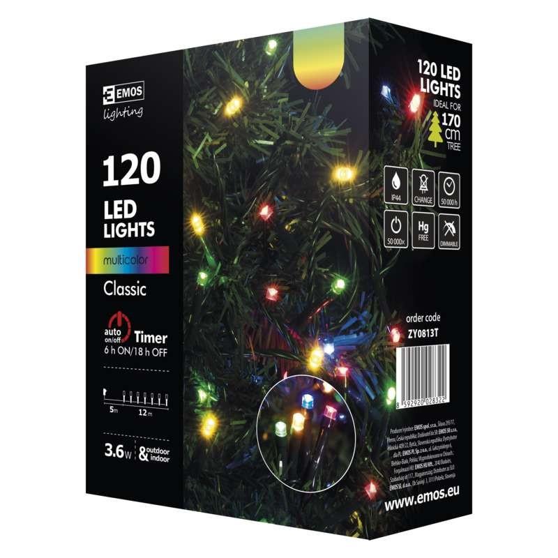 Vianočné osvetlenie Vianočné osvetlenie Emos ZY0813T, farebná, 12 m