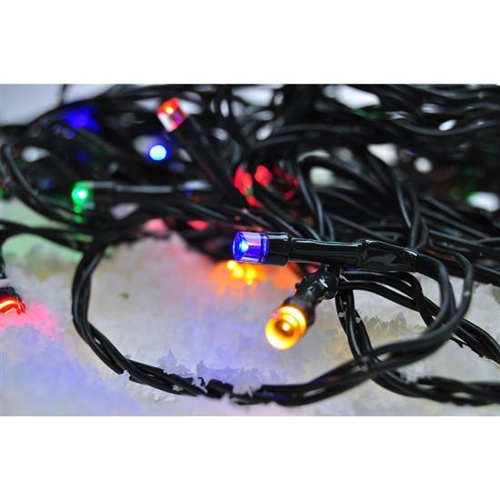 Vianočné osvetlenie Vonkajšia vánočná reťaz Solight 1V04M,LED,30m,prívod 5m,8fcí