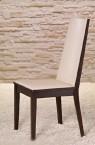 Vicente - Jedálenská stolička (wenge/eko kože krémová)