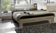 Vicenza - Komplet, posteľ 140 cm (dub/alpská biela)