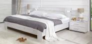 Vicenza - Komplet, posteľ 160 cm (dub biely)