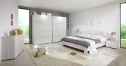 Vicenza - Komplet veľký 2, posteľ 180 cm (dub biely)