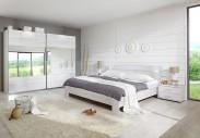 Vicenza - Komplet veľký 6, posteľ 160 cm (dub biely)